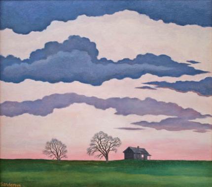 "William Sanderson, ""Dusk #2"", oil on canvas, 1982"