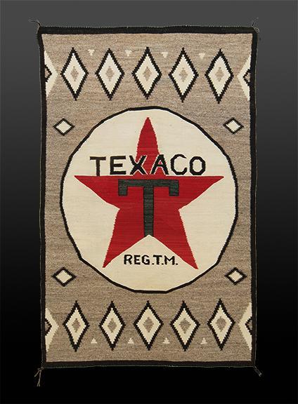 """Texaco"" Pictorial Weaving, Navajo, circa 1930"