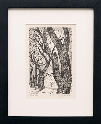 "Ethel Magafan, ""Trees"", lithograph, c. 1937"
