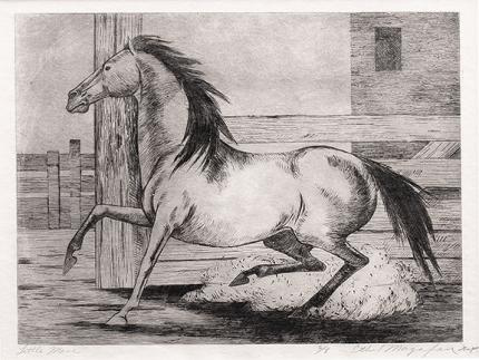 "Ethel Magafan, ""Little Mare, 6/8"", etching, c. 1947"