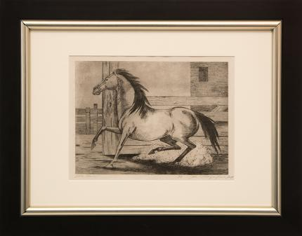 """Ethel Magafan, """"Little Mare, 6/8"""", etching, c. 1947 for sale purchase consign auction denver Colorado art gallery museum"""