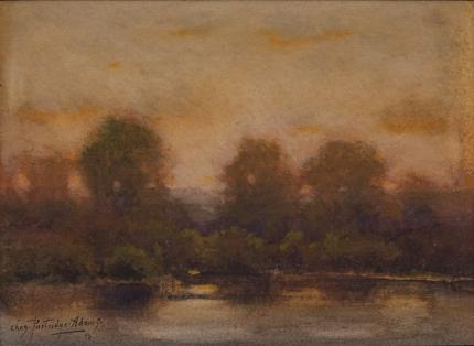 """Charles Partridge Adams, """"Untitled (Evening along the Front Range, Colorado)"""", watercolor, early 20th century painting fine art for sale purchase buy sell auction consign denver colorado art gallery museum"""