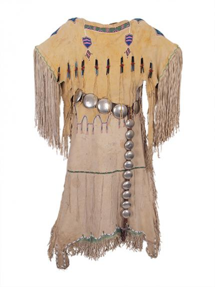 Plains indian dress kiowa native american antique vintage 19th century
