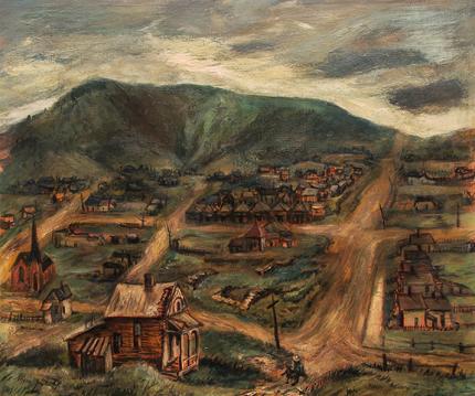 """Suzanne Schweig Martyl, """"Victor, Colorado"""", oil, 1942"""