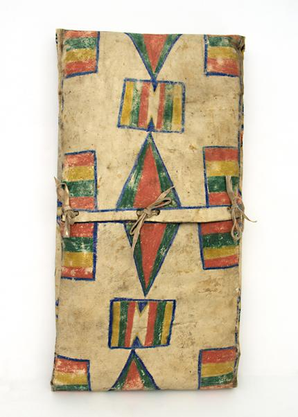 Parfleche Envelope, Plateau, circa  1890 19th century Native American Indian antique vintage art for sale purchase auction consign denver colorado art gallery museum