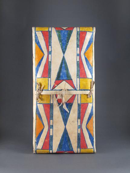 Parfleche Envelope, Plateau, circa  1890, Native american indian antique, 19th century rawhide for sale purchase consign sell auction art gallery museum denver colorado