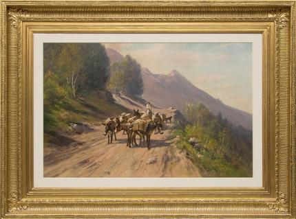 """Harvey Otis Young, """"Untitled"""", mixed media, 19th century for sale purchase consign auction denver Colorado art gallery museum"""