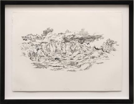 "Eric James Bransby, ""North Face"", lithograph, 1978 denver colorado art gallery museum auction consign purchase sale"