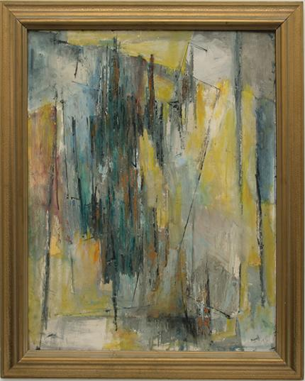 """Charles Ragland Bunnell, """"Untitled"""" 1958 oil painting fine art for sale purchase buy sell auction consign denver colorado art gallery museum"""