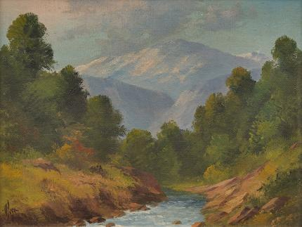 "Willard J. Page, ""Untitled (Colorado Stream)"", oil painting"