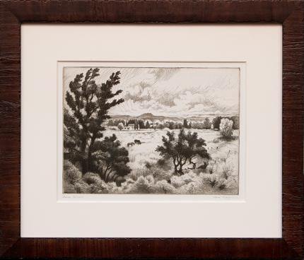 "Gene Kloss etching ""Indian Summer"" nting fine art for sale purchase buy sell auction consign denver colorado art gallery museum"