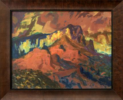 "Will Collins, ""Oak Creek Canyon (Arizona)"", oil, 20th century painting for sale purchase consign auction denver Colorado art gallery museum"