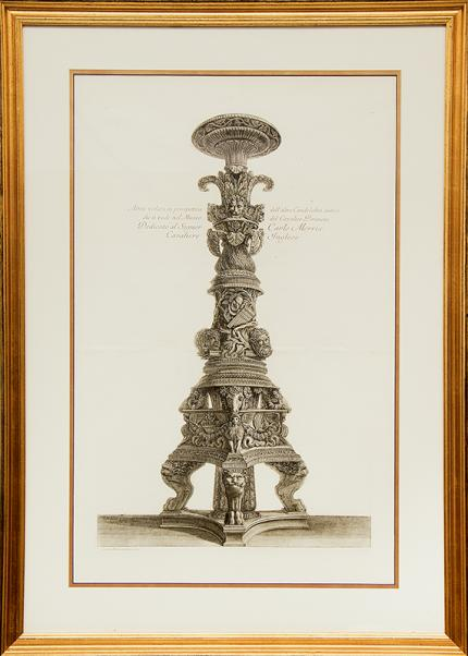 "Giovanni Battista Piranesi, ""Ancient Candelabra"", etching, 19th century fine art for sale purchase buy sell auction consign denver colorado art gallery museum"