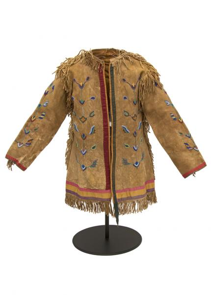 Horse Doctor's Coat of Elk Hide 19th century native american indian plains Native American Indian antique vintage art for sale purchase auction consign denver colorado art gallery museum