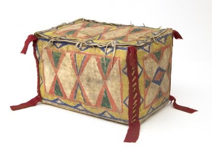 parfleche Box, Sioux, last quarter of the 19th century Native American Indian antique vintage art for sale purchase auction consign denver colorado art gallery museum