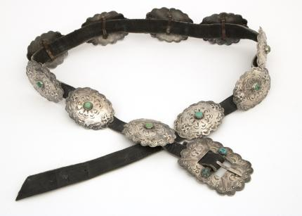 vintage old pawn navajo concho concha belt jewelry silver turquoise Native American Indian antique vintage art for sale purchase auction consign denver colorado art gallery museum