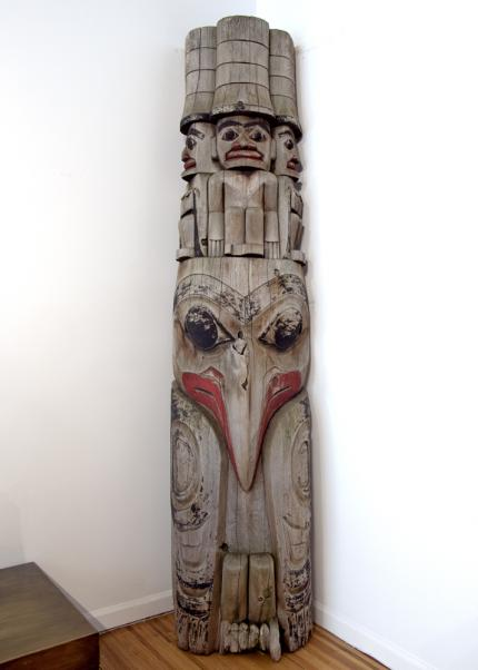 Northwest Coast Totem Pole native american indian Native American Indian antique vintage art for sale purchase auction consign denver colorado art gallery museum