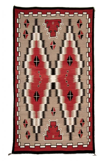 Trading Post Rug, Navajo, first quarter of the 20th century  Native American Indian antique vintage art for sale purchase auction consign denver colorado art gallery museum