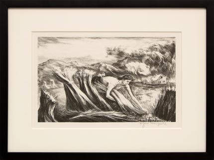 """Peppino Gino Mangravite, """"Tomorrow's Bread; edition of 250"""", lithograph, 1946 for sale purchase consign auction denver Colorado art gallery museum"""