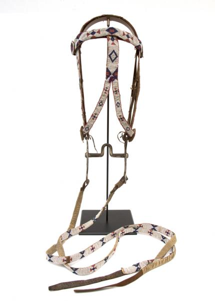 Bridle/Head Stall, Sioux, first quarter twentieth century Native American Indian antique vintage art for sale purchase auction consign denver colorado art gallery museum