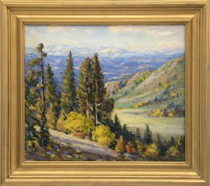"Robert Alexander Graham, ""Untitled (Near Genesee, Colorado)"", oil fine art for sale purchase buy sell auction consign denver colorado art gallery museum"