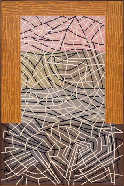 "Margo Hoff, ""Stone Mountain"", mixed media, circa 1977 for sale purchase consign auction denver Colorado art gallery museum"