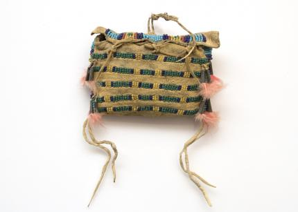 beaded Possible Bag (Child's), Plains, circa 1880 19th century Native American Indian antique vintage art for sale purchase auction consign denver colorado art gallery museum