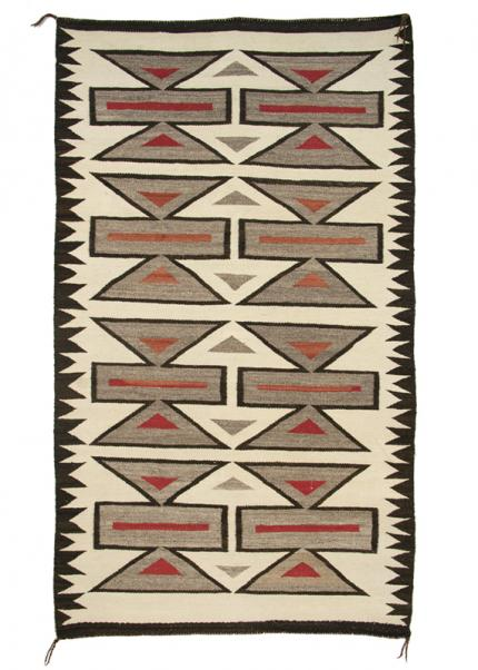 vintage Trading Post Rug, Navajo, circa 1920 19th century Native American Indian antique vintage art for sale purchase auction consign denver colorado art gallery museum