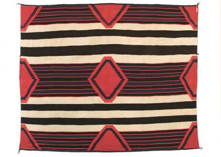 Chief's Blanket, Navajo, third phase, textile weaving circa 1880-1890 19th century Native American Indian antique vintage art for sale purchase auction consign denver colorado art gallery museum