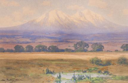 Charles Partridge Adams colorado painting spanish peaks vintage antique hudson river luminism
