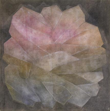 """Margo Hoff, """"Crystal, Series #3 Rose"""", mixed media, circa 1960 painting fine art for sale purchase buy sell auction consign denver colorado art gallery museum"""