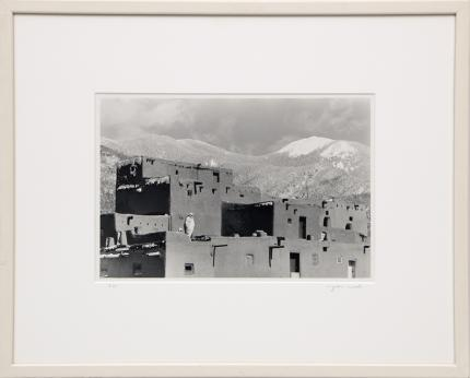 """Myron Wood, """"Untitled (Taos Pueblo)"""", photograph painting fine art for sale purchase buy sell auction consign denver colorado art gallery museum"""