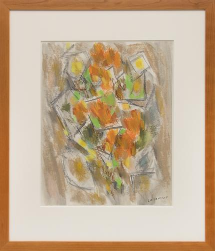 "Ward Lockwood, ""Floral"", pastel, circa 1950 painting fine art for sale purchase buy sell auction consign denver colorado art gallery museum"