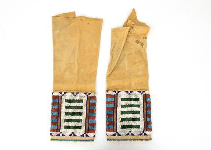 Leggings (Child's), Cheyenne, last quarter of the 19th century Native American Indian antique vintage art for sale purchase auction consign denver colorado art gallery museum