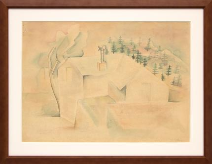 """Frank """"Pancho"""" Gates, """"Untitled (Colorado)"""", watercolor painting fine art for sale purchase buy sell auction consign denver colorado art gallery museum"""
