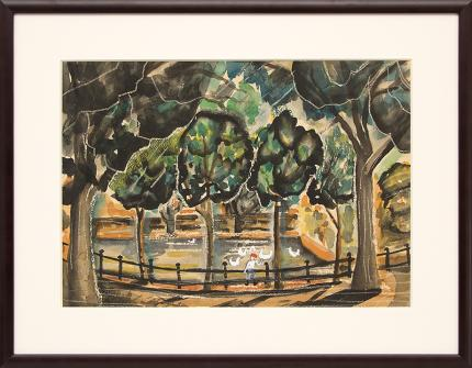 "Frank ""Pancho"" Gates, ""Untitled"", watercolor painting fine art for sale purchase buy sell auction consign denver colorado art gallery museum"