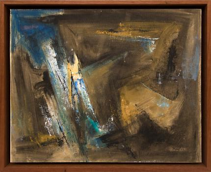 "Charles Ragland Bunnell, ""Untitled"", oil, 1963 for sale purchase consign auction denver Colorado art gallery museum"