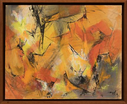 """Charles Ragland Bunnell, """"Untitled (Abstract)"""", oil, 1963painting fine art for sale purchase buy sell auction consign denver colorado art gallery museum"""