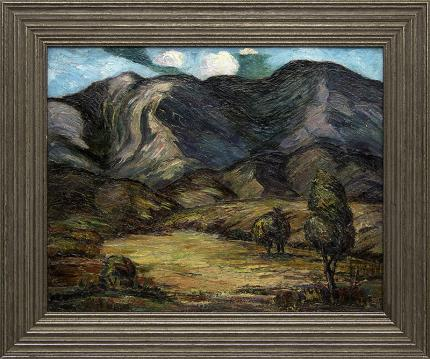 "Tabor Utley, ""Untitled (Colorado Mountains)"", oil, circa 1930 painting fine art for sale purchase buy sell auction consign denver colorado art gallery museum"