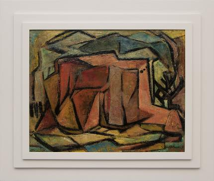 """Sara Lindemuth Uffelman, """"Rancho de Taos (New Mexico)"""", oil, 1954 painting fine art for sale purchase buy sell auction consign denver colorado art gallery museum"""