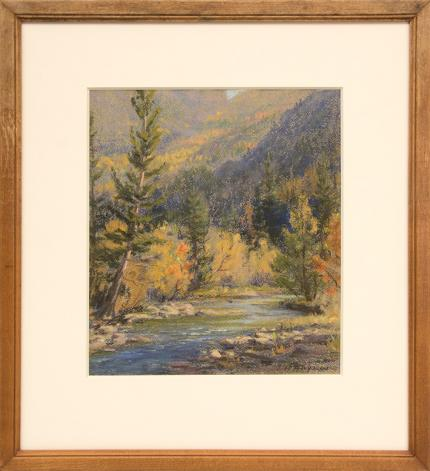 "Elsie Haddon Haynes, ""Untitled (Colorado Lake)"", pastel painting fine art for sale purchase buy sell auction consign denver colorado art gallery museum"