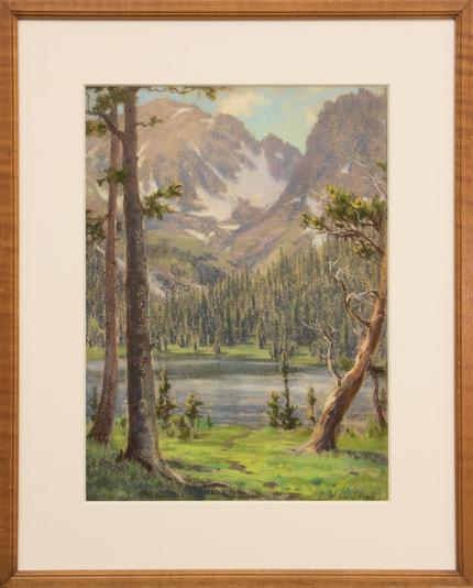 "Elsie Haynes, ""Untitled (Colorado Lake)"", pastel painting fine art for sale purchase buy sell auction consign denver colorado art gallery museum"