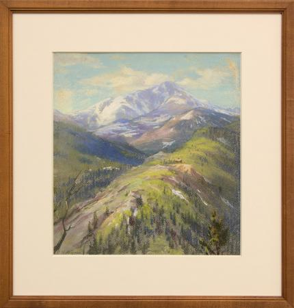 "Elsie Haddon Haynes, ""Untitled (Colorado Mountains)"", pastel painting fine art for sale purchase buy sell auction consign denver colorado art gallery museum"