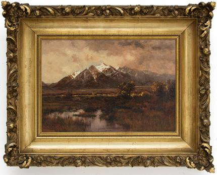 "Charles Partridge Adams, ""Untitled (Spanish Peaks)"", oil, circa 1915 painting fine art for sale purchase buy sell auction consign denver colorado art gallery museum"