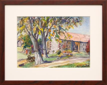 "Irene Fowler, ""Untitled (Ranch)"", watercolor painting fine art for sale purchase buy sell auction consign denver colorado art gallery museum"