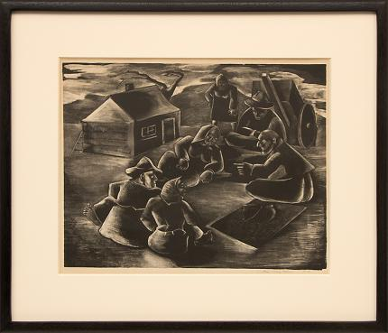 """Maxwell Mandell, """"The Story Teller; 5/15"""", lithograph, circa 1940 painting fine art for sale purchase buy sell auction consign denver colorado art gallery museum"""