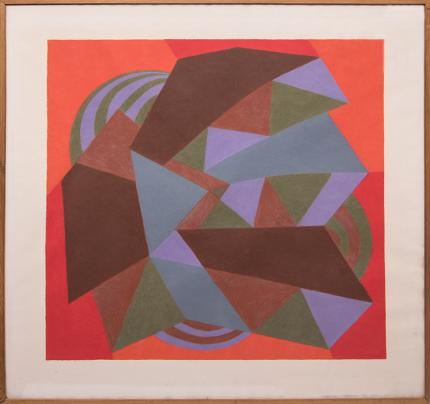 """Margo Hoff, """"Carnival Series: Zig-Zag"""", conte crayon painting fine art for sale purchase buy sell auction consign denver colorado art gallery museum"""