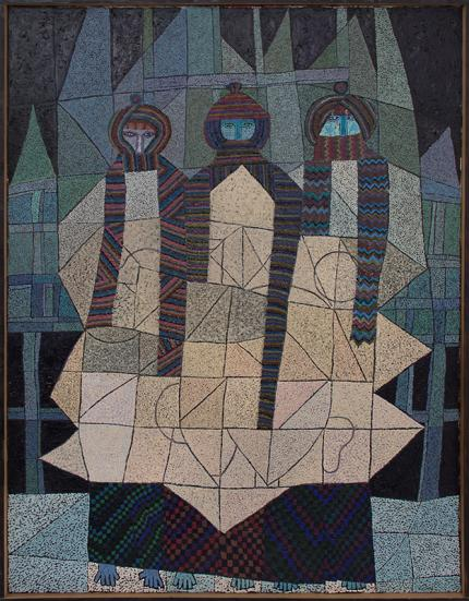 """Edward Marecak """"Three Winter Months"""", oil painting fine art for sale purchase buy sell auction consign denver colorado art gallery museum"""
