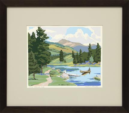 """Alfred Wands, """"Colorado, 52/150"""", print for sale purchase consign auction denver Colorado art gallery museum Rocky Mount"""
