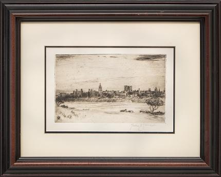 """Lester E. Varian, """"Untitled"""", etching painting fine art for sale purchase buy sell auction consign denver colorado art gallery museum"""